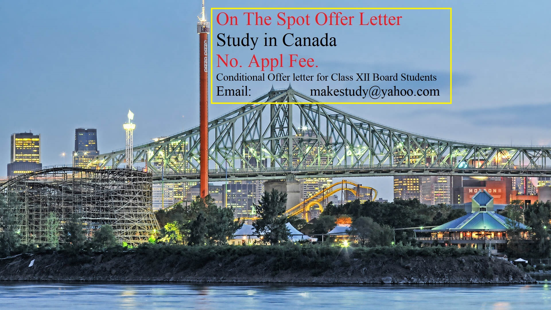 Are you Class XII Board student awaiting your result? Wish to study in Canada ? Book your seat !!