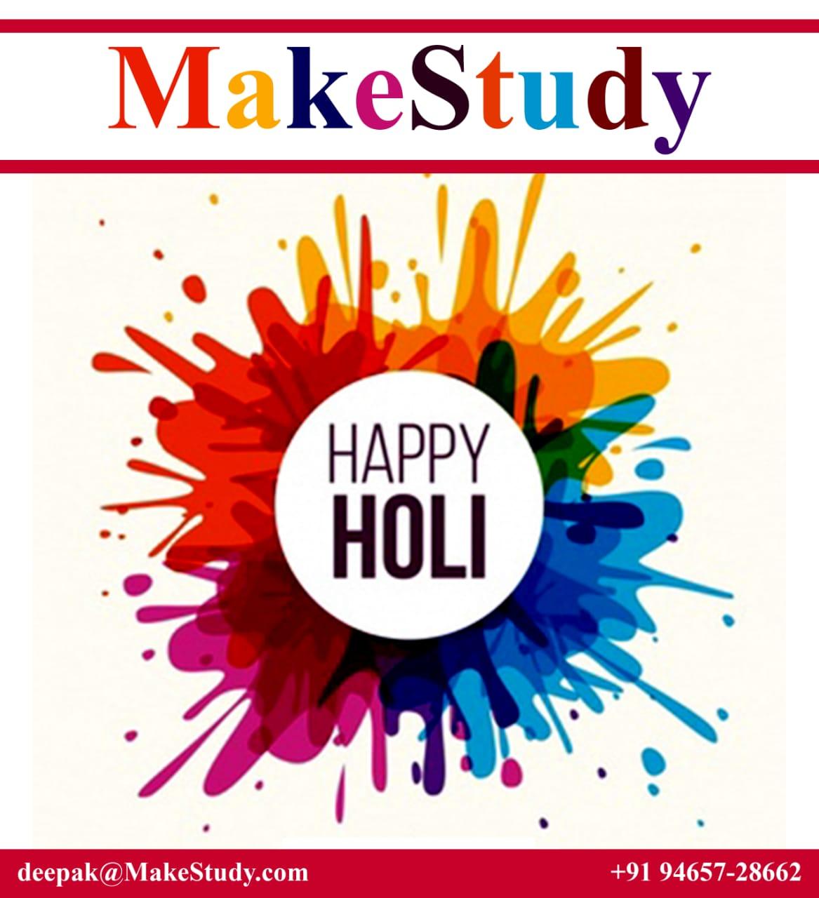 Holi Greetings ! India celebrating festival of colours